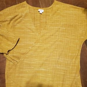 Lularoe Mustard yellow Lindsey cardigan
